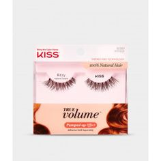 Revolutionary Tapered End Technology delivers real-like lashes that blend seamlessly with your own lashes. of women who wore these lashes felt the difference—you'll forget you're wearing them! Falsies, Volume Lashes, Artificial Nails, Professional Hairstyles, Hair Tools, Press On Nails, Nail Manicure, False Eyelashes, Kiss