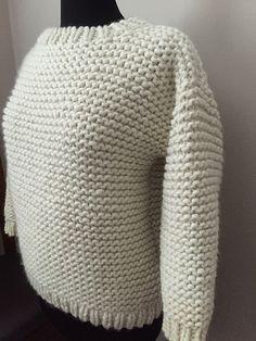 Chunky Garter Stitch Pullover | malabrigo Rasta in Natural