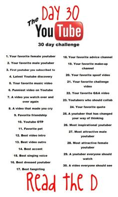 """30 Day YouTube Challenge!"" by fashion4life11 ❤️ liked on Polyvore"