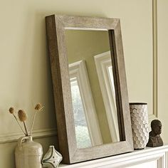 Parsons Wall Mirror - Natural Solid Wood #westelm