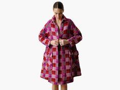 Vintage Bonnie Cashin Plaid Wool Coat on www.shopmaeven.com