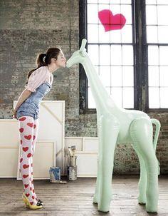 I want an inflatable giraffe!
