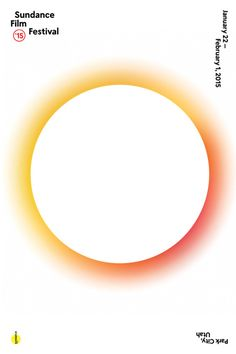 The Official 2015 Sundance Film Festival Poster features the white eclipse image with a multi-colored halo. Layout Design, Design Art, Print Design, Creative Design, Poster Design, Poster Layout, Design Graphique, Art Graphique, Text Poster