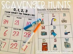 Creating Readers and Writers: Boredom Buster: Scavenger Hunts Around the House