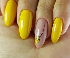 Toenail Polish Designs, Manicure Nail Designs, Manicure E Pedicure, Acrylic Nail Designs, Nail Art Designs, Acrylic Nails, Pen Designs, Pedicure Ideas, Yellow Nails Design