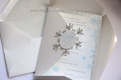 Winter Wonderland Snowflakes Sweet 16 Birthday Quinceanera Party Invitation by CreativeOutlookDes on Etsy