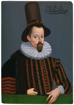 King James I of England and VI of Scotland  by Unknown artist, oil on panel, circa 1590