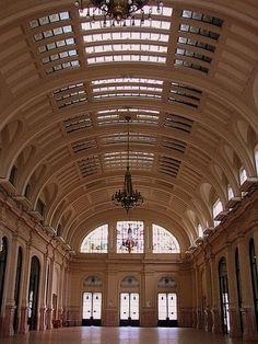 Estação Júlio Prestes, historic railroad station opened in 1872, São Paulo , Brazil