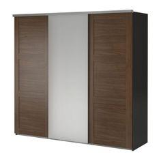 ELGÅ Wardrobe with 3 sliding doors IKEA Sliding doors require less space when open than a standard wardrobe door.