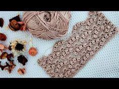 SİZDEN BU ÖRNEĞİ ÇOOOK İSTEYECEKLER❗😏😏NASIL DA ZARİFSİN? 📌📌 #bromstick #shellpattern #örgü #crochet - YouTube Crochet Motif Patterns, Crochet Chart, Baby Knitting Patterns, Crochet Designs, Easy Crochet, Free Crochet, Knit Crochet, Bobble Stitch, Fabric Yarn