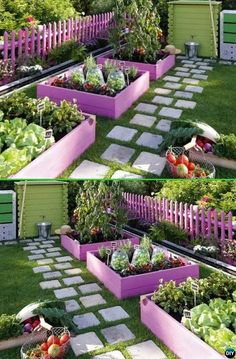 Paint Pallet Garden Edging - 20 Creative Garden Bed Edging Ideas Projects Instructions  #Gardening