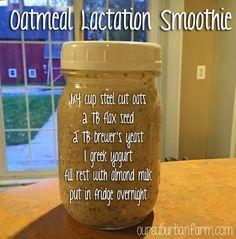 Our Suburban Farm: Oatmeal Lactation Smoothie Recipe