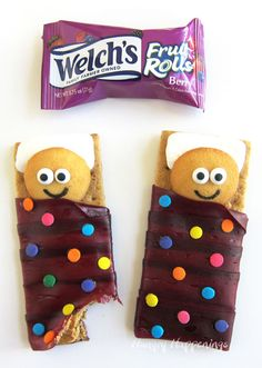 Birthday cookies - Welch's Fruit Rolls Sleeping Bag Snacks by @HungryHappening bit.ly/2Hq1OkE  - #ad these are simply the cutest! Unroll The Fun With Welch's® Fruit Rolls! Perfect for a sleepover snack!