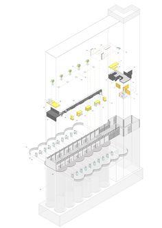 O-office Architects — Silo-top Studio Section Drawing Architecture, Revit Architecture, Architect Drawing, Architecture Graphics, Architecture Portfolio, Contemporary Architecture, Architecture Diagrams, Axonometric Drawing, Urban Design