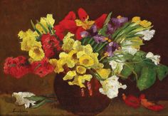 Spring Flowers : Stefan Luchian : circa 1907 : Art Print Suitable for Framing Art Prints For Sale, Wall Art Prints, Fine Art Prints, Poster Prints, Art Floral, Flower Artists, Photo Images, Thing 1, Nail Designs Spring