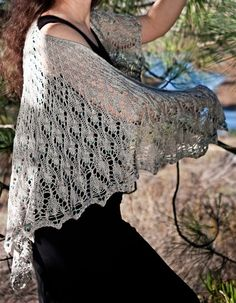 free lace wrap shawl knit pattern