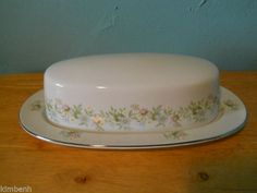 "Johann Haviland Forever Spring ""COVERED BUTTER DISH"" Flowers Bavaria German #JohannHaviland"