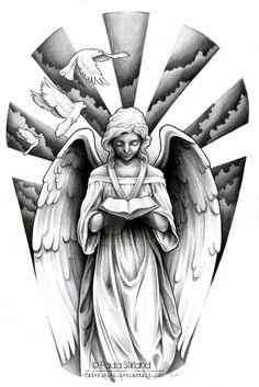 Angel sleeve design Mehr