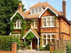 Edwardian house, just take away the plants on the side of the house!