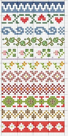 border stitching designs – link leads to TONS of other charted designs | REPINNED