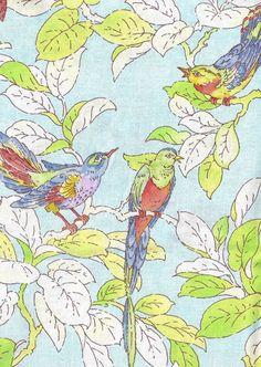 """Bird fabric!! """"Bird Chat, Breeze"""" by Michael Miller"""