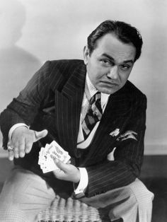 Robinson epitomizes the American Dream, Loves Cigars and Art, Overcomes the Blacklist, and is Nothing Like His Gangster Screen Image. For all about this Classic Hollywood Star, visit my website! Old Hollywood Movies, Golden Age Of Hollywood, Vintage Hollywood, Hollywood Stars, Hollywood Actresses, Classic Hollywood, Actors & Actresses, Edward G Robinson, James Cagney