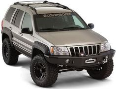 Bushwacker Cut-Out Style Grand Cherokee Fender Flare Set 10926-07 Fender Flares