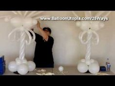 How to Make a Fancy Centerpiece From Balloons - YouTube