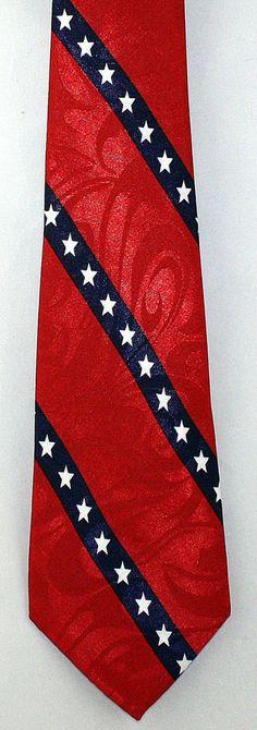 New Anglo Confederate Flag Mens Necktie Rebel Stripes Civil War South Neck Tie #StevenHarris #NeckTie