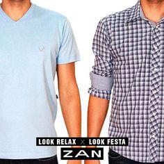 Look relax ou look festa? Qual é o de hoje? #Zan