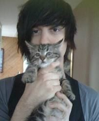 Ryan Seaman with a kitty. Your argument is invalid. I love the cat it's all like…