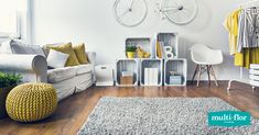 Use a rug as the basis for a room's colour scheme. If it's the last thing you add after all the furniture, use it as an accent or to tie in existing colours. Color Schemes, Kids Rugs, Colours, Flooring, Tie, Room, Furniture, Ideas, Home Decor