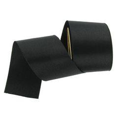"""Black 2 1/2"""" Satin Ribbon"""
