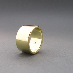 14k Solid Yellow Gold Band - 12mm Wide Ring - Plain Wide Gold Wedding Band - Polished Finish - Men - Women on Etsy, $1,200.00