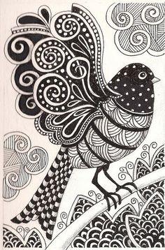 zentangle bird patterns | Zentangle Pattern Ideas | Zentangle Ideas & Patterns / Zentangle bird