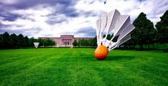 #atkins art museum #attractions #building #clouds #grass #hdr #historic #kansas city #landmark #landscape #lawn #missouri #nature #outdoors #panorama #scenic #sculptures #shuttlecock #sky #tourism