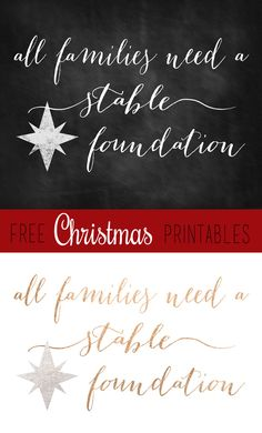 all families need a stable foundation free printable - Subway Christmas Eve Hours