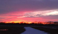 A Wichita. Kansas, March 3, 2013 sunset.