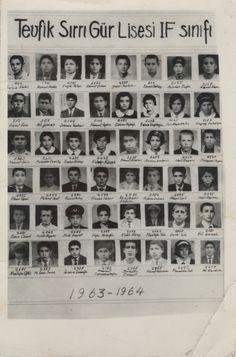 1963 -1964 #Mersin Tevfik Sırrı Gür lisesi 1F sınıfı fotoğraflı okuyan öğrenci listesi... 🙂 Nispeten yakın dönem sayılır. Belki bir tanıdıkla karşılaşırsınız... #tevfiksirrigur #tevfiksırrıgürlisesi