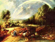 Peter Paul Rubens  Schilderij Naam Landschap met een Regenboog Jaar van oprichting 1636-1638