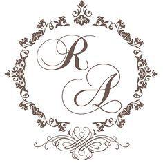 Raphael e Ana Wedding Logos, Monogram Wedding, Wedding Cards, Diy Wedding, Wedding Invitations, Wedding Day, Wedding Monograms, Initials Logo, Monogram Logo