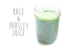 kale and parsley juice