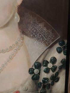 Anne of Denmark, 1590 - crowned Queen of Scotland = detail Renaissance Costume, Renaissance Art, Anne Of Denmark, Great Works Of Art, Cultured Pearls, Art World, Fashion Details, Art Boards, Fashion Art