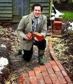 it brick or cobbles, paving stones or tiles, if you're thinking of putting in a new path, now's the time to do it, says Monty Don How to: build brick path.How to: build brick path.