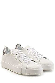 JIL SANDERS - Leather Sneakers | STYLEBOP.com