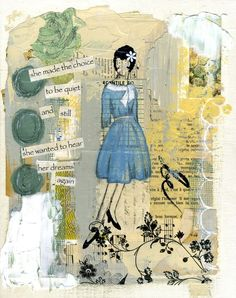 she.made.the.choice #jeanneoliver #mixedmedia