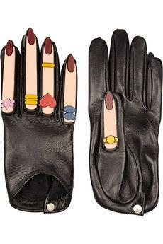 Finds + YAZBUKEY x Causse Gantier Plexiglas®-embellished leather gloves   NET-A-PORTER