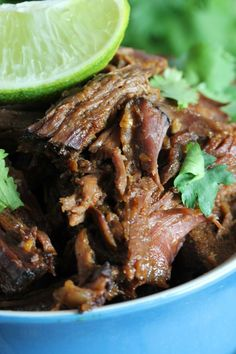 This easy slow cooker shredded beef requires just 6 ingredients and is great in tacos, burritos, quesadillas, and more!