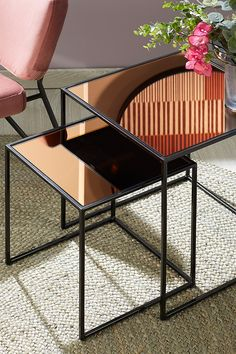 Better Together, Outdoor Furniture, Outdoor Decor, Table, Home Decor, Tv Unit Furniture, Paint Metal, Fall Living Room, Mirror Glass
