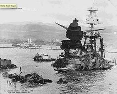 USS Arizona remains, 30 Dec. 1941. Pearl Harbor, HI.